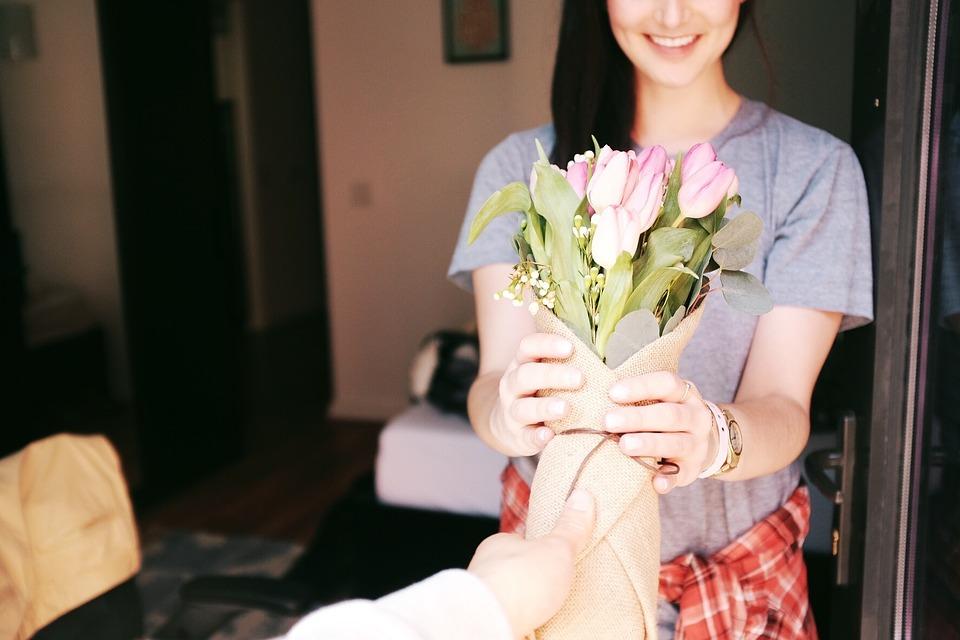 Blomster i gave