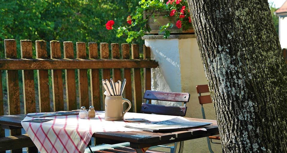 Sommer hygge på terrassen