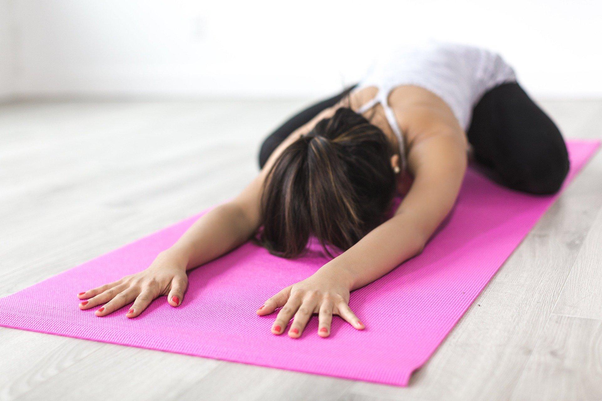 Yoga på madras