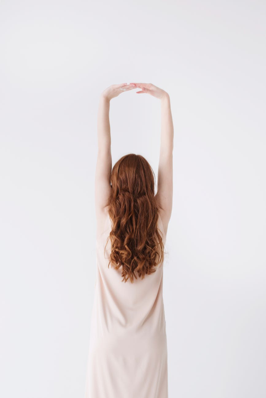 Langt kvindeligt hår