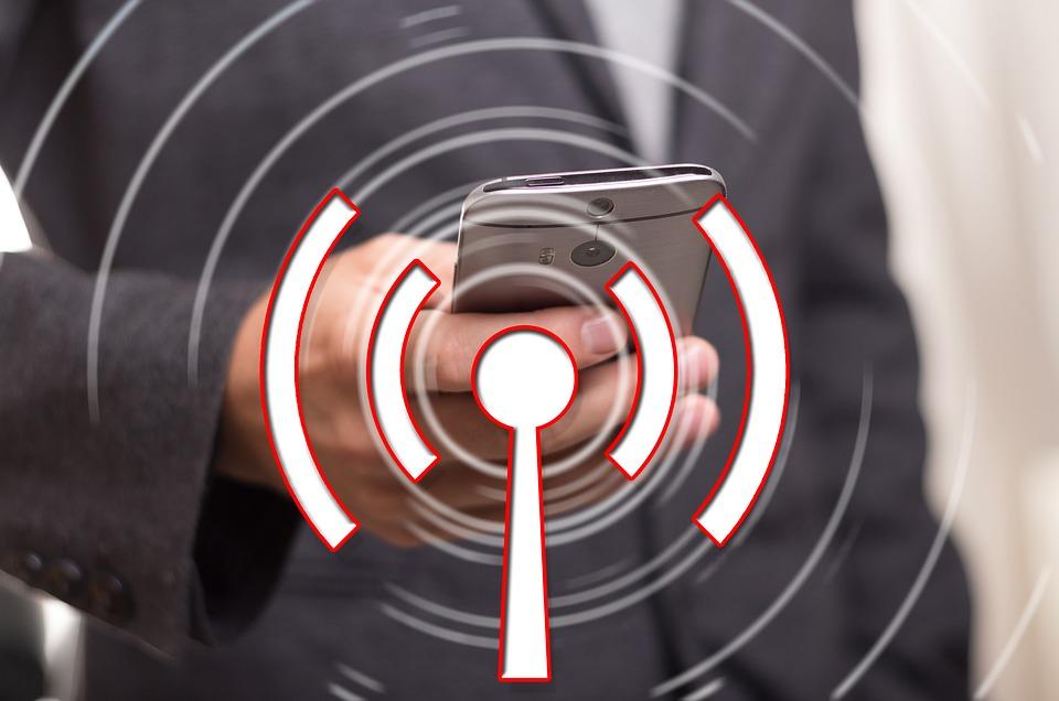 Illustration telefon wlan wifi mobil