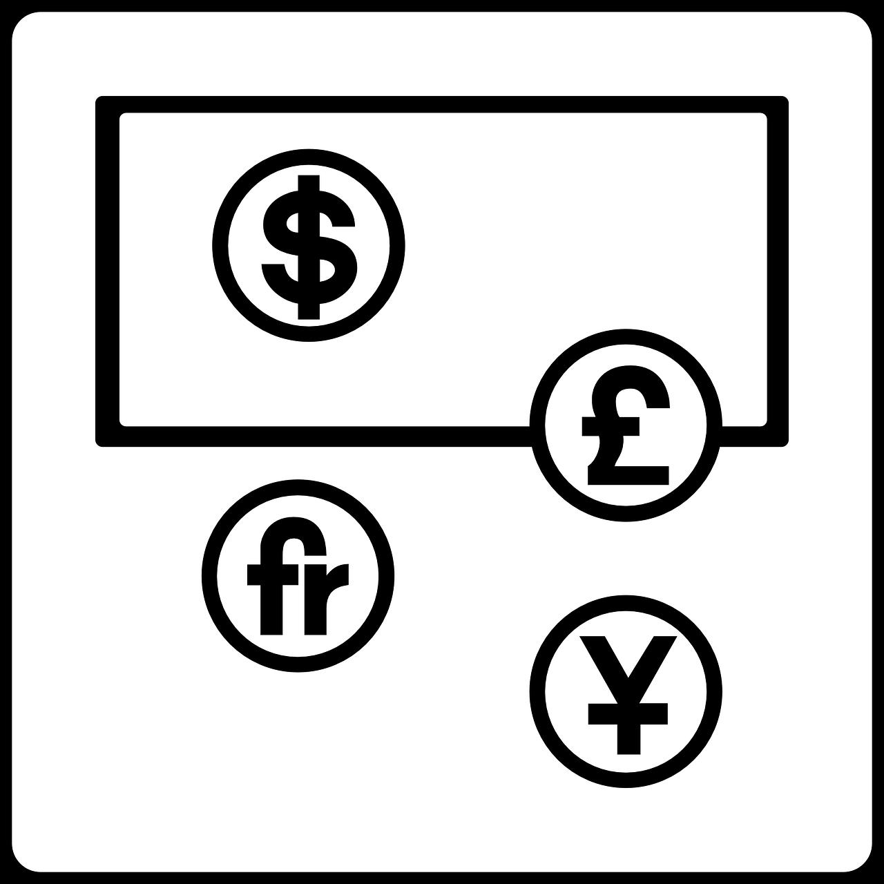 forskellige valuta