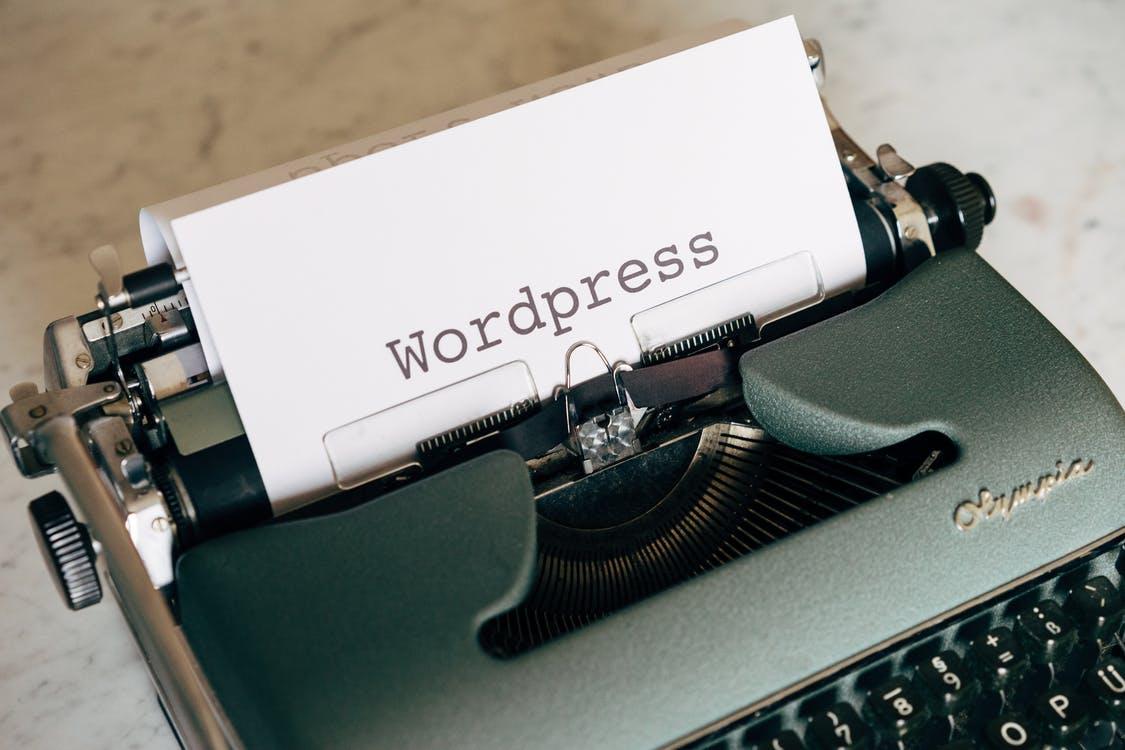 Wordpress paa skrivemaskine