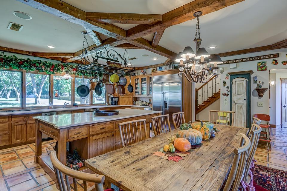 køkken, indretning, møbler, natur